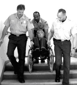 Evacuation-of-wheelchair-user